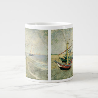 Fishing Boats on the Beach by Vincent van Gogh Large Coffee Mug