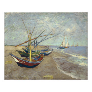 Fishing Boats on the Beach by Vincent Van Gogh Photographic Print
