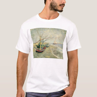 Fishing Boats on the Beach by Vincent van Gogh T-Shirt