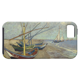 Fishing boats on the beach iPhone 5 cases
