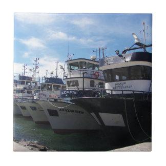 Fishing Boats On The Bosporus Ceramic Tiles