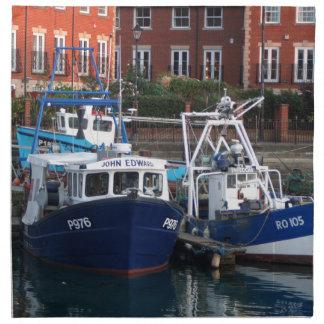 Fishing boats, Portsmouth, England Napkin