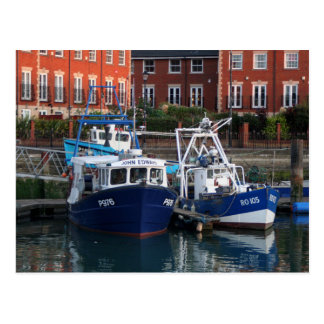 Fishing boats, Portsmouth, England Postcard