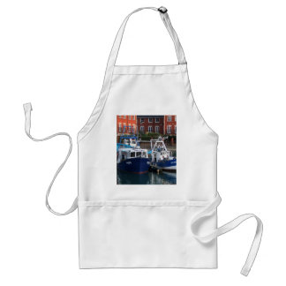 Fishing boats, Portsmouth, England Standard Apron