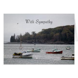 Fishing Boats Sympathy Card