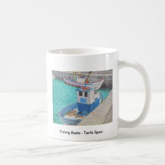 Fishing Boats - Tarifa, Spain Basic White Mug