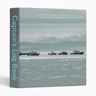 Fishing Boats Vinyl Binders