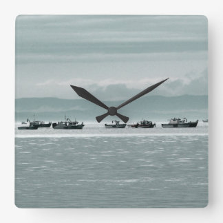 Fishing Boats Wall Clocks