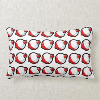 Fishing Bobbers Lumbar Pillow
