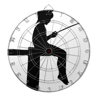 Fishing Boy Silhouette Dartboard