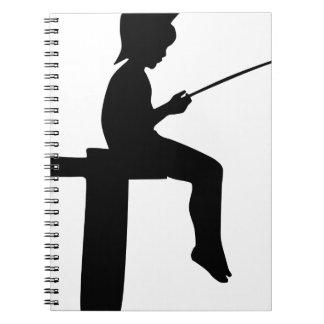 Fishing Boy Silhouette Notebooks