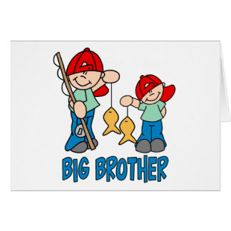 Fishing Buddies Big Brother Note Card