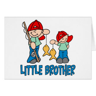 Fishing Buddies Little Brother Note Card
