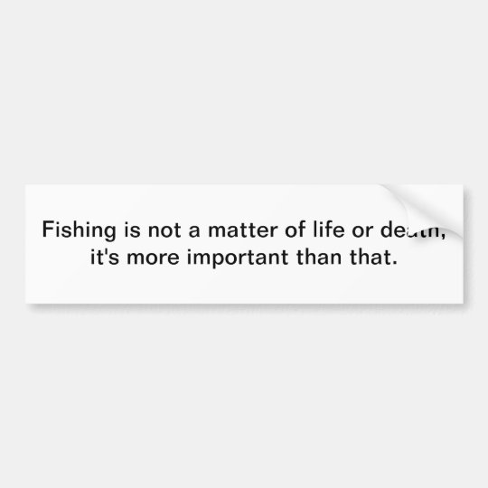 Fishing - bumper sticker