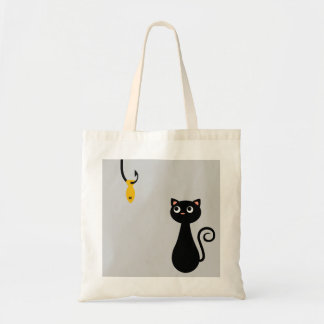 Fishing Cat Tote Bag