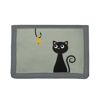 Fishing Cat Trifold Wallets