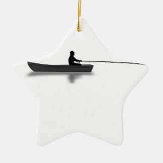 Fishing Ceramic Ornament