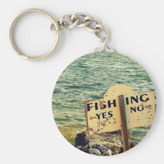 Fishing Choices Basic Round Button Keychain