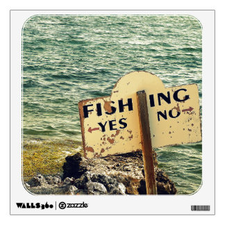 Fishing Choices Wall Sticker