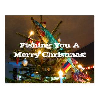 Fishing Christmas card Postcard