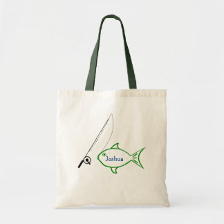 Fishing Custom Name Tote Bag