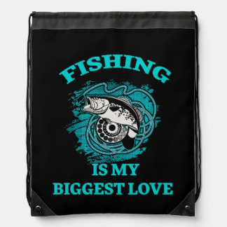 Fishing Drawstring Bag