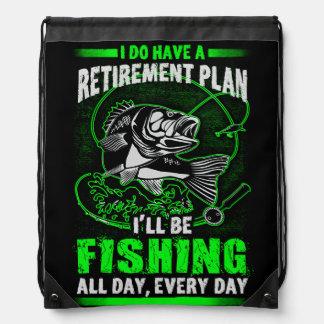 Fishing Drawstring Bag