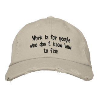 Fishing Embroidered Hat