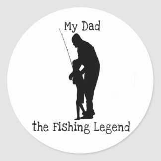 Fishing Father Day Sticker