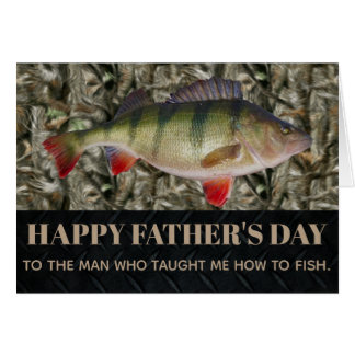 Fishing Father's Day Perch Card