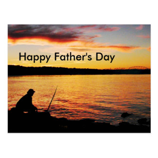 Fishing Father's Day postcard
