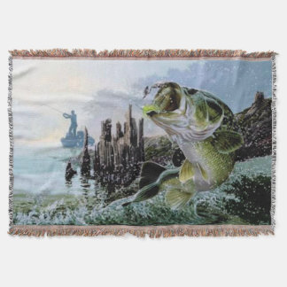 Fishing Fisherman Lake design Blanket