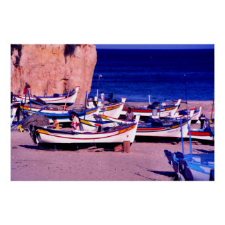 Fishing fleet, The Algarve, Portugal Poster
