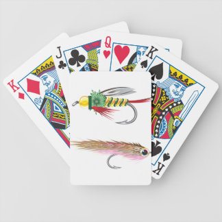 Fishing Flies lures Bug and Minnow Poker Deck