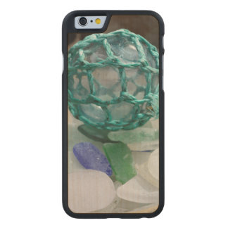 Fishing float on glass, Alaska Carved® Maple iPhone 6 Case