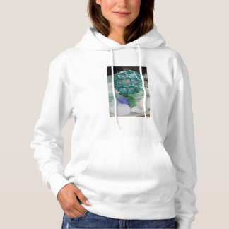 Fishing float on glass, Alaska Hoodie
