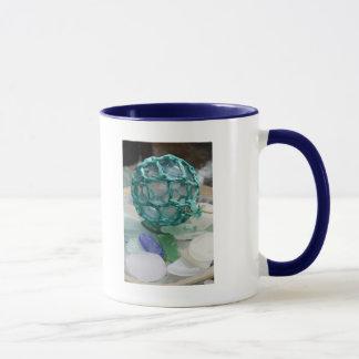 Fishing float on glass, Alaska Mug