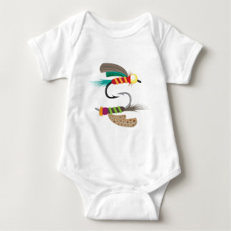 Fishing Fly Baby Bodysuit