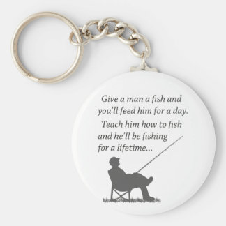 Fishing for a Lifetime Keychain