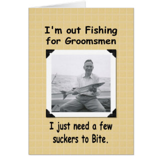 Fishing for Groomsmen Card