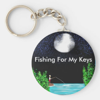 Fishing For My Keys Keychain