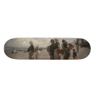 Fishing for Oysters at Cancale - John Sargent Skateboard Decks