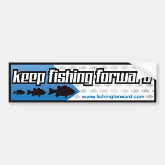 Fishing Forward Bumper Sticker