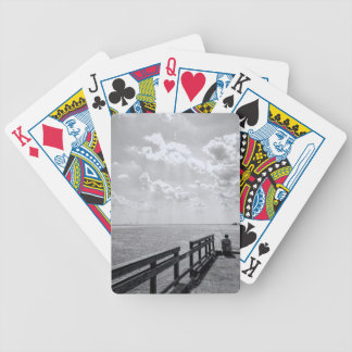 Fishing From Pier In Altlantic Ocean Bicycle Playing Cards