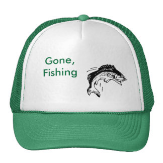 fishing, Gone, Fishing Trucker Hat