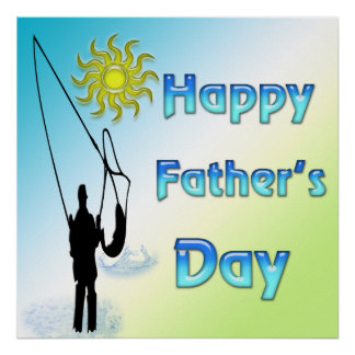 Fishing - Happy Father's Day Poster