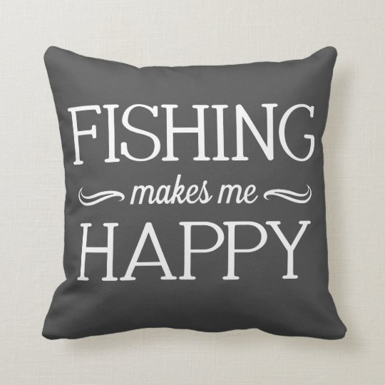 Fishing Happy Pillow - Assorted Styles & Colours