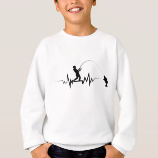 Fishing Heartbeat Cool Beat Great Gift For Fisher Sweatshirt