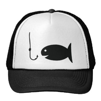 fishing icon mesh hat