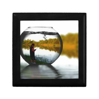 Fishing in a Fishbowl Keepsake Boxes